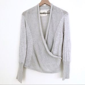 ANGEL OF THE NORTH Wool Silk Blend Wrap Sweater